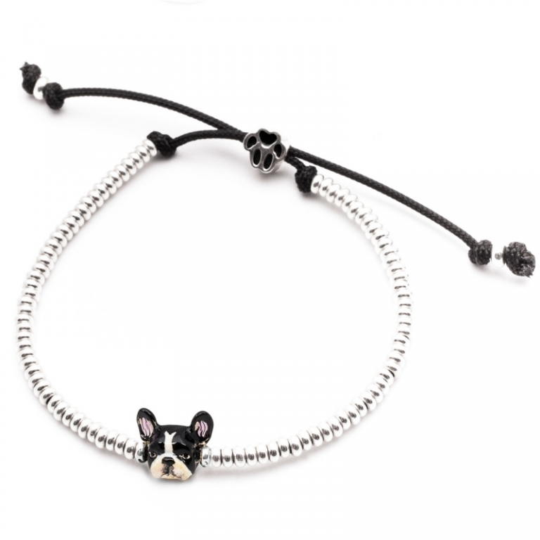 DOG FEVER - ENAMELLED DOG HEAD BRACELETS - enameled head bracelets french bulldog