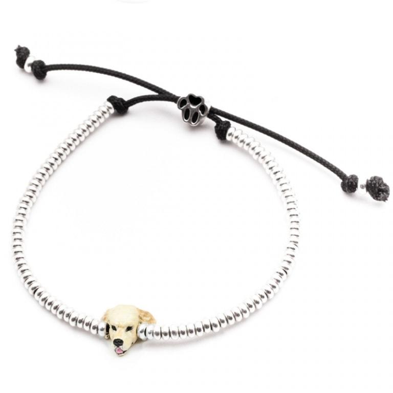 DOG FEVER - ENAMELLED DOG HEAD BRACELETS - enameled head bracelets golden retriever
