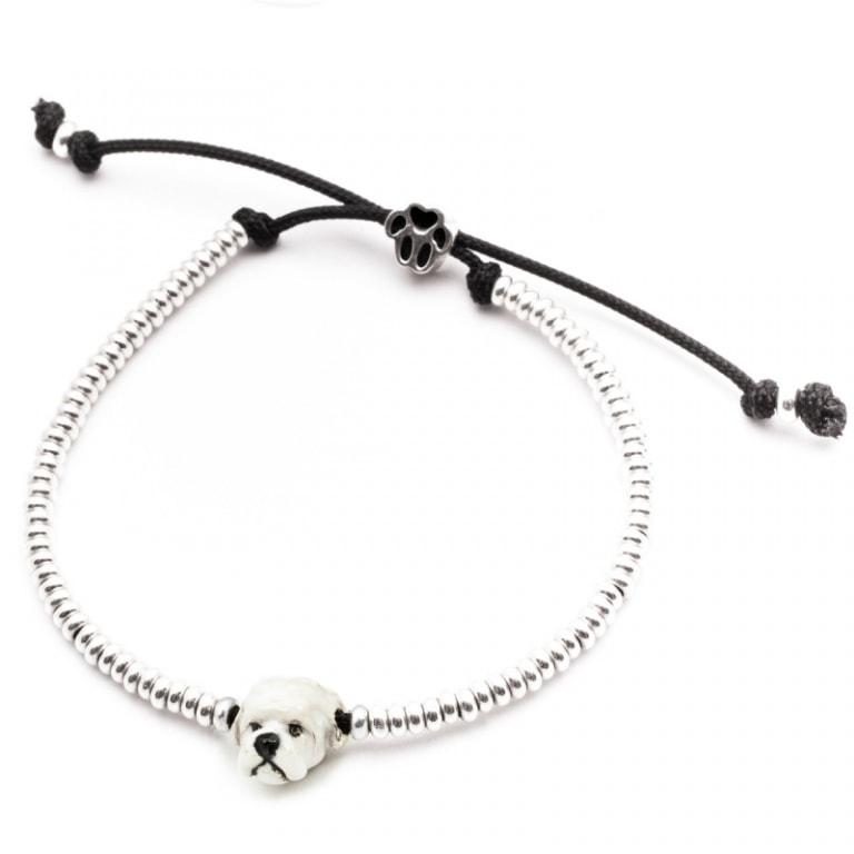 DOG FEVER - ENAMELLED DOG HEAD BRACELETS - enameled head bracelets maltese