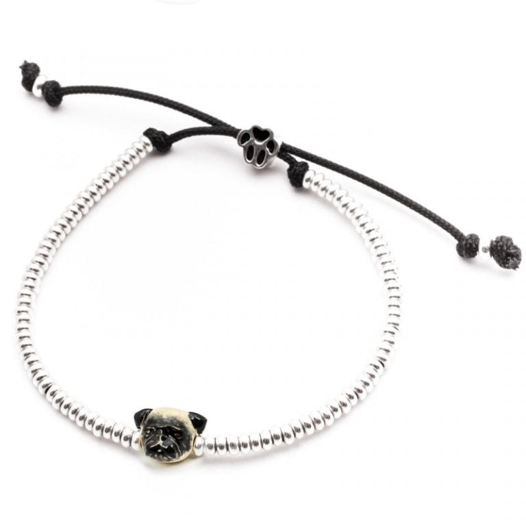 DOG FEVER - ENAMELLED DOG HEAD BRACELETS - enameled head bracelets pug