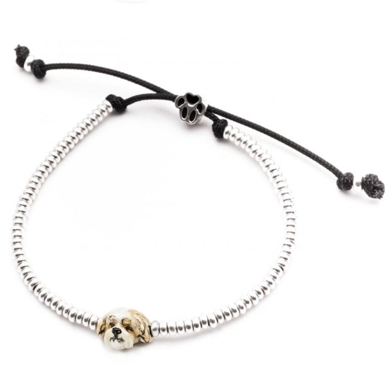DOG FEVER - ENAMELLED DOG HEAD BRACELETS - enameled head bracelets shitzu