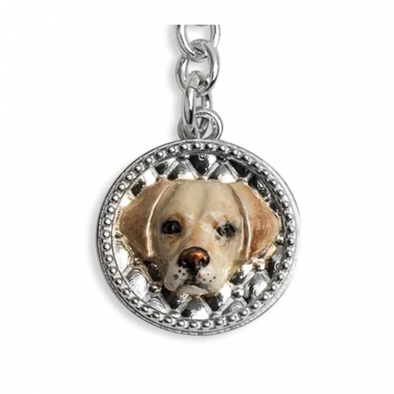 DOG FEVER - ENAMELLED DOG KEY HOLDER - labrador enamelled keyring