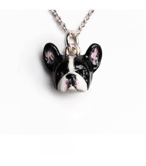 DOG FEVER - ENAMELLED HEAD PENDANT - French Bulldog