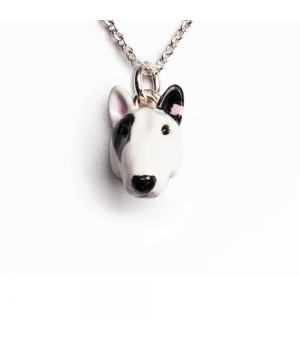 DOG FEVER - ENAMELLED HEAD PENDANT - bull terrier