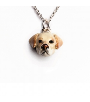 DOG FEVER - ENAMELLED HEAD PENDANT - labrador