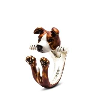 DOG FEVER - ENAMELLED HUG RING - american staffordshire enameled hug ring