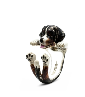 DOG FEVER - ENAMELLED HUG RING - bernese mountain dog enameled hug ring