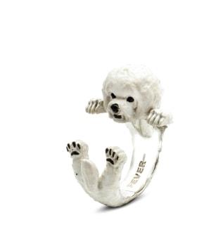 DOG FEVER - ENAMELLED HUG RING - bichon frise enameled hug ring