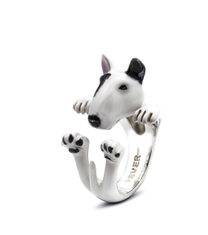 DOG FEVER - ENAMELLED HUG RING - bull terrier enameled hug ring