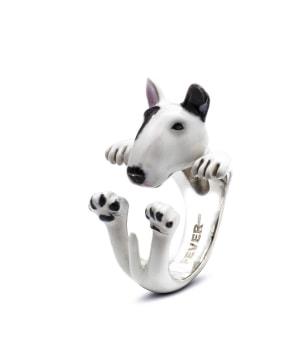 DOG FEVER - ENAMELLED HUG RING - bull terrier enameled hug ring