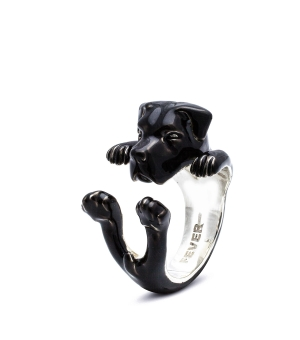 DOG FEVER - ENAMELLED HUG RING - cane corso enameled hug ring