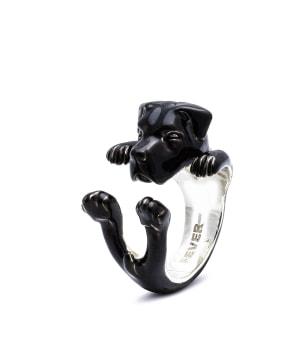 DOG FEVER - ENAMELLED HUG RING - cane corso enameled hug ring