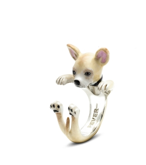 DOG FEVER - ENAMELLED HUG RING - chihuahua enameled hug ring