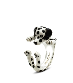 DOG FEVER - ENAMELLED HUG RING - dalmatian enameled hug ring