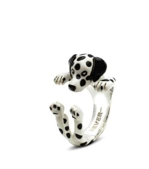DOG FEVER - ENAMELLED HUG RING - dalmatian enameled hug ring