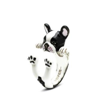 DOG FEVER - ENAMELLED HUG RING - french bulldog enameled hug ring