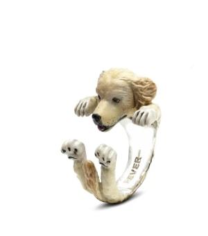 DOG FEVER - ENAMELLED HUG RING - golden retriever enameled hug ring