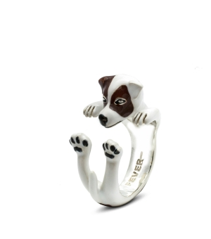 DOG FEVER - ENAMELLED HUG RING - jack russell enameled hug ring