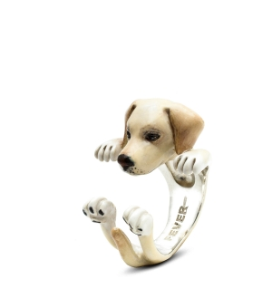 DOG FEVER - ENAMELLED HUG RING - labrador retriever enameled hug ring