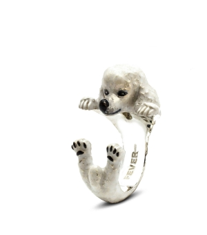DOG FEVER - ENAMELLED HUG RING - poodle enameled hug ring