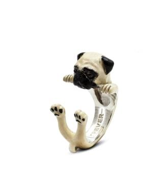 DOG FEVER - ENAMELLED HUG RING - pug enameled hug ring
