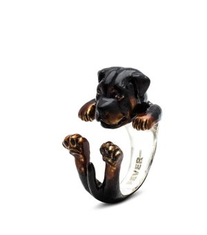 DOG FEVER - ENAMELLED HUG RING - rottweiler enameled hug ring