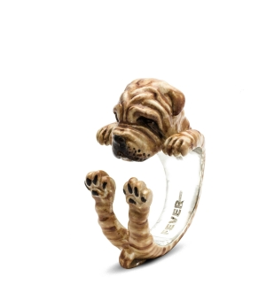 DOG FEVER - ENAMELLED HUG RING - shar pei enameled hug ring