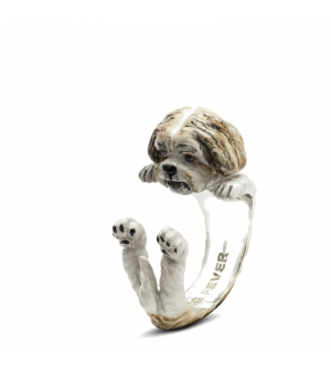 DOG FEVER - ENAMELLED HUG RING - shih tzu enameled hug ring