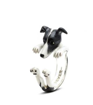 DOG FEVER - ENAMELLED HUG RING - whippet enameled hug ring