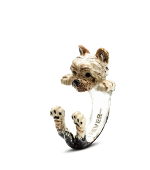 DOG FEVER - ENAMELLED HUG RING - yorkshire enameled hug ring