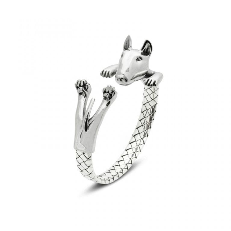 DOG FEVER - HUG BRACELETS - bull terrier silver hug bracelet