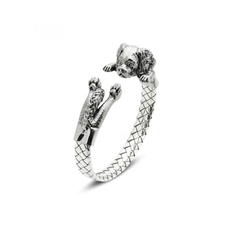 DOG FEVER - HUG BRACELETS - cavalier king silver hug bracelet