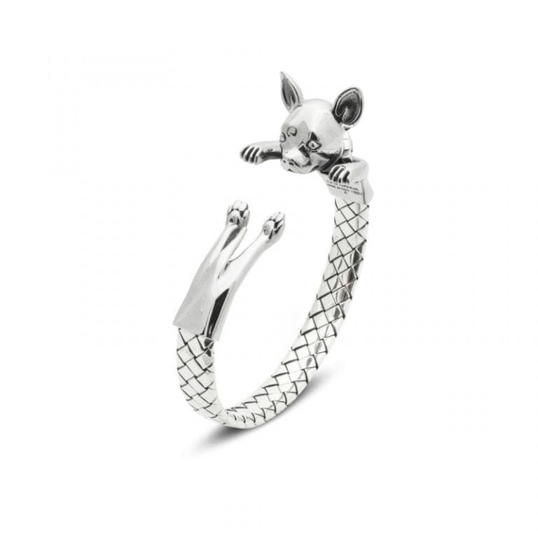 DOG FEVER - HUG BRACELETS - chihuahua silver hug bracelet