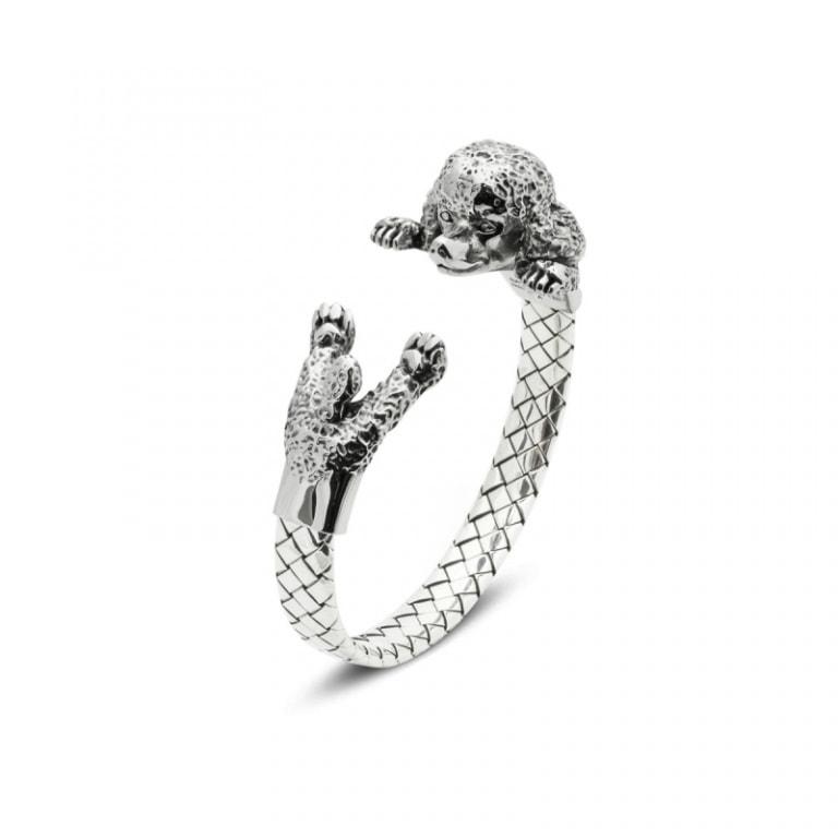 DOG FEVER - HUG BRACELETS - poodle silver hug bracelet