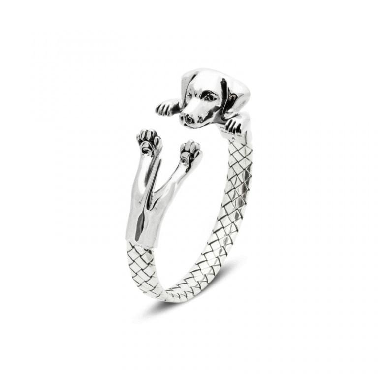 DOG FEVER - HUG BRACELETS - weimaraner silver hug bracelet