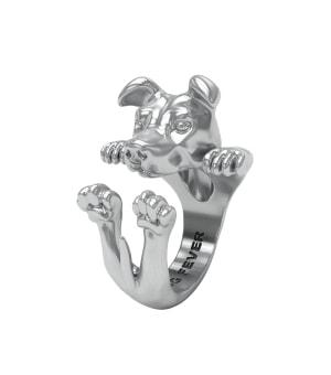 DOG FEVER - HUG RING - american staffordshire silver hug ring