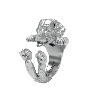 DOG FEVER - HUG RING - bernese mountain dog silver ring