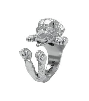 DOG FEVER - HUG RING - bernese mountain dog silver ring