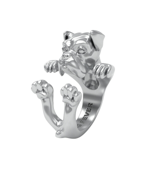 DOG FEVER - HUG RING - boxer silver hug ring
