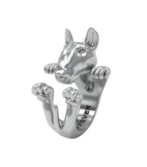 DOG FEVER - HUG RING - bull terrier silver hug ring