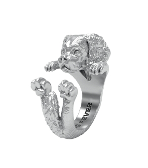 DOG FEVER - HUG RING - cavalier king silver hug ring