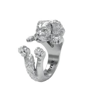 DOG FEVER - HUG RING - cavalier king silver hug ring