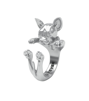 DOG FEVER - HUG RING - chihuahua silver hug ring