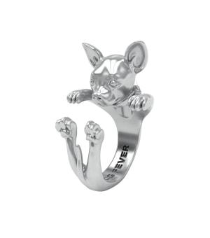 DOG FEVER - HUG RING - chihuahua silver hug ring