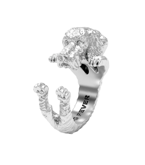 DOG FEVER - HUG RING - dachshund teckel silver hug ring