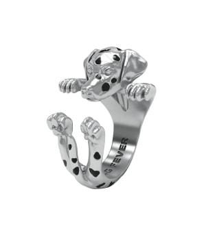 DOG FEVER - HUG RING - dalmatian silver hug ring