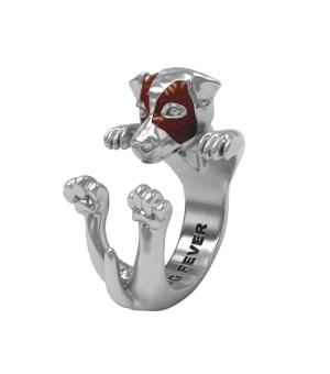 DOG FEVER - HUG RING - jack russell silver hug ring