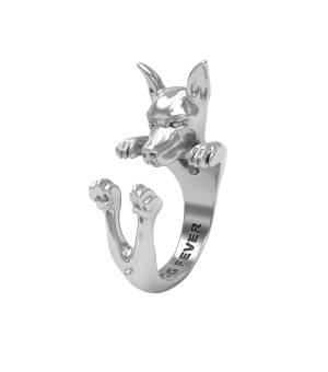 DOG FEVER - HUG RING - pinscher silver hug ring