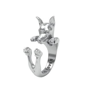 DOG FEVER - HUG RING - pinscher silver hug ring