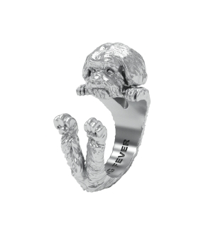 DOG FEVER - HUG RING - shih tzu silver hug ring